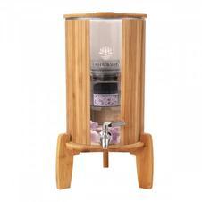 Wasserspender aus Glas und Bambus