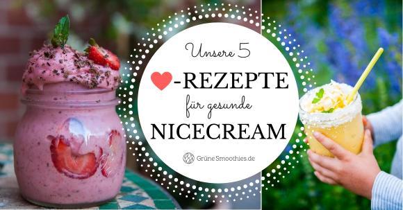 Nicecream im Mixer zubereiten